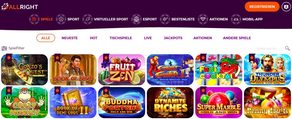 Überprüfung der Boni und Sonderangebote im AllRight Casino